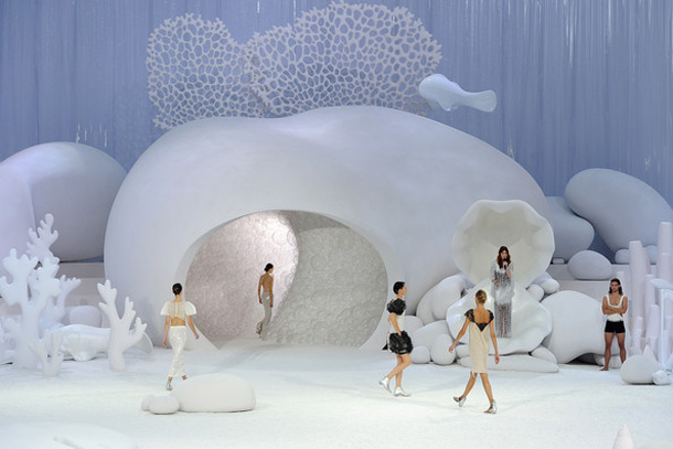 Chanel Runway for Spring Summer 2012 by Zaha Hadid.