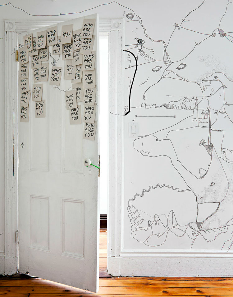 Shantell Martin's Illustrated Apartment in Brooklyn.