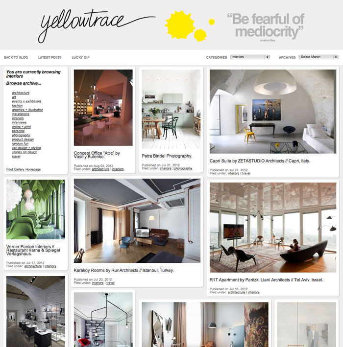 Introducing // Yellowtrace Post Gallery.