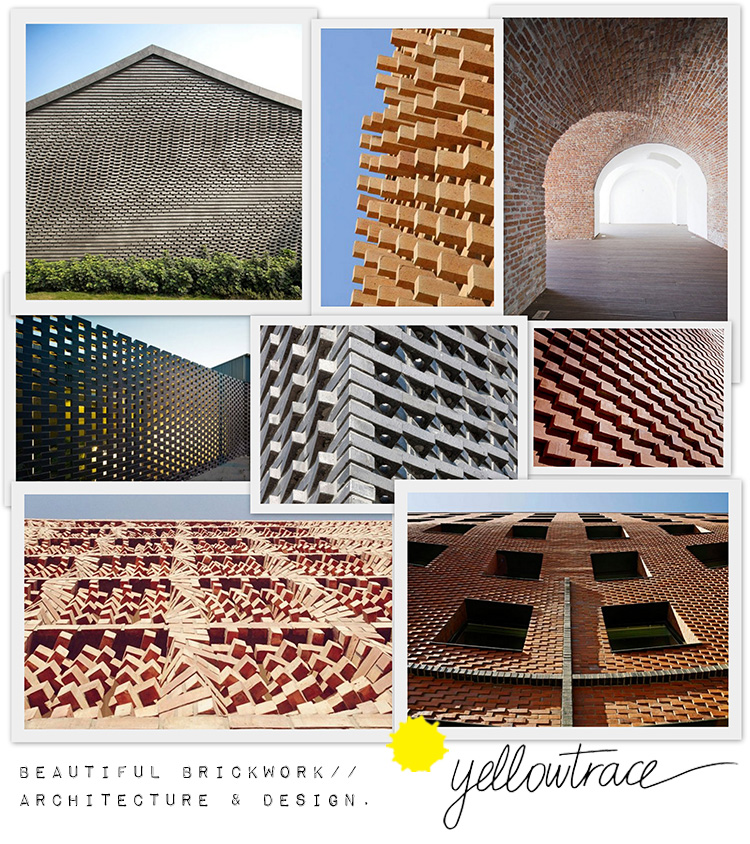 Brickwork Architecture and Design | Collage by Yellowtrace.