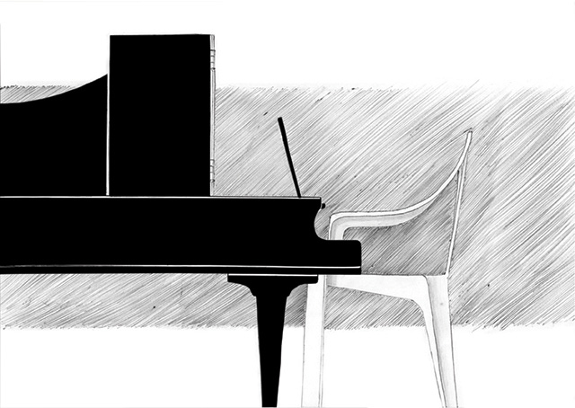 monobloc piano chair