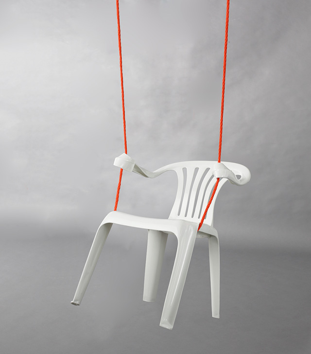 Design Free Thursday // Monobloc Chair Sculptures by Bert Loeschner.