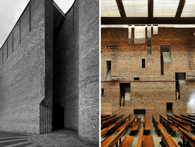 Saint Brides Church by Gillespie Kidd Coia, 1963 // via yellowtrace