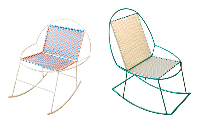 JONES and JAIME rocking chairs by Mededorama at Salone Satellite 2013 | Yellowtrace.