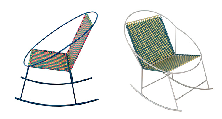 PILAR and MARIA & JM rocking chairs by Mededorama at Salone Satellite 2013 | Yellowtrace.