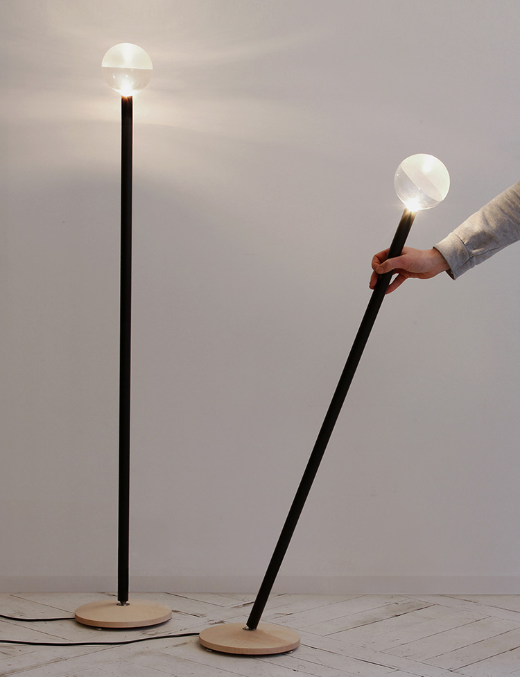 TOTO Floor Lamp by Veronika Wildgruber at Salone Satellite 2013 | Yellowtrace.