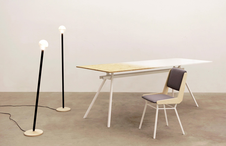 TOTO Lamp, JANUS Tabletop & EQUERRE Chair by Veronika Wildgruber at Salone Satellite 2013 | Yellowtrace.