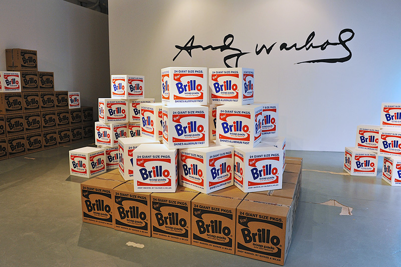 Brillo Box foam ottomans by Fab.com and The Andy Warhol Foundation at Salone del Mobile 2013 | Photo by Nick Hughes for Yellowtrace.