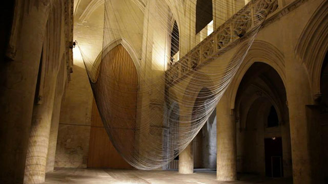 Caten Kinetic Sound Installation by David Letellier [TV].