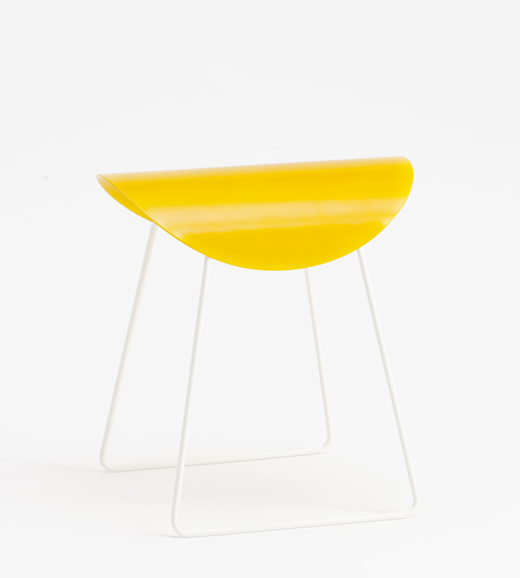 Saddle stool by Curti Metallo at Ventura Lambrate 2013 | Yellowtrace.
