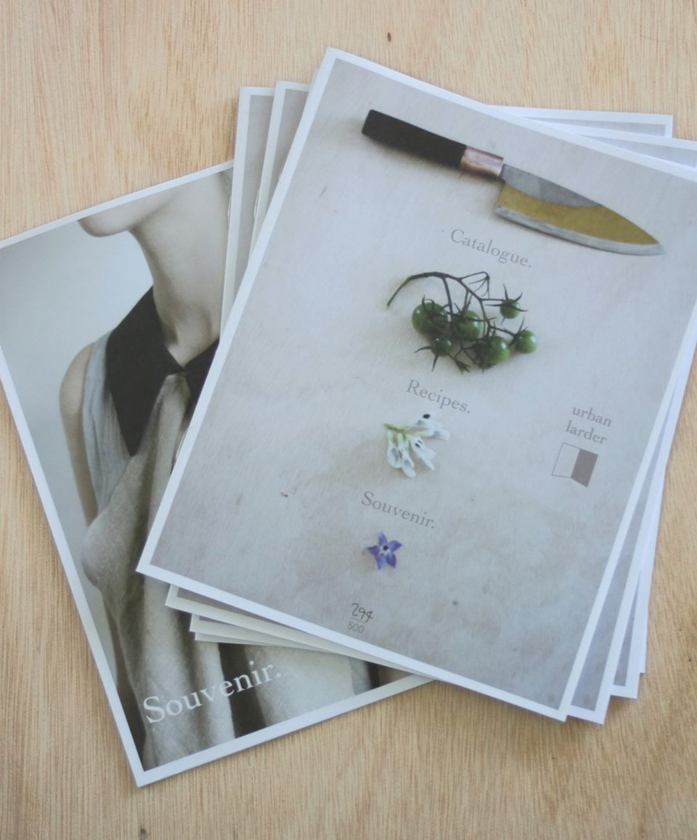 Sovenir limited edition publication & catalogue for Urban Larder | Yellowtrace.