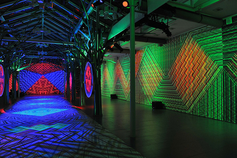 Zigzagging installation by Carnovsky for Missoni during Salone del Mobile 2013 | Photo by Nick Hughes for Yellowtrace.