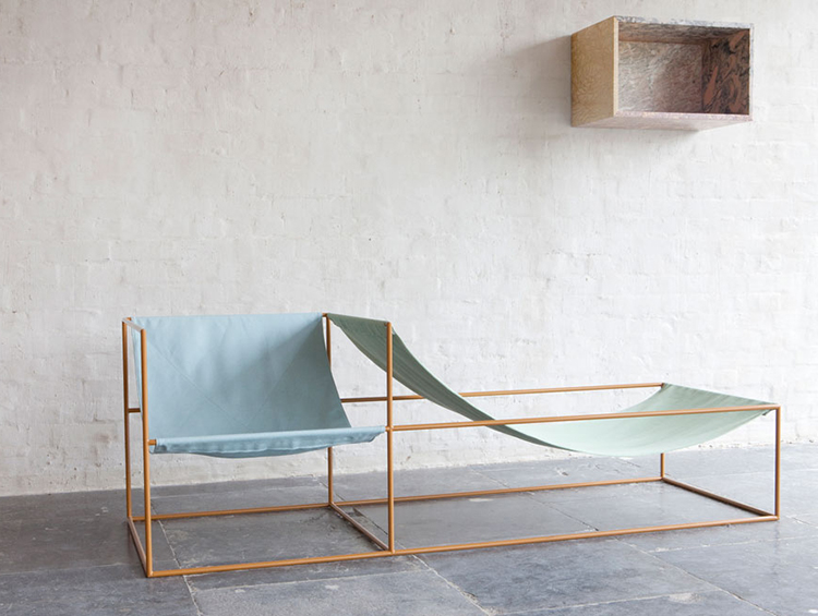 Muller van Severen seat in blue and green, Ventura Lambrate 2013 | Yellowtrace.