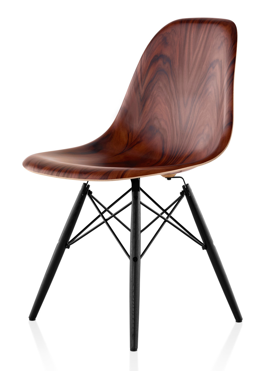 Eames Moulded Timber Side Chair from Herman Miller | Yellowtrace.