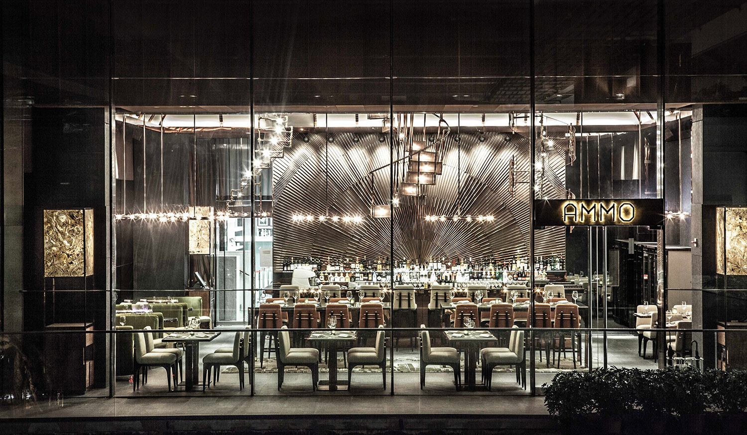 Ammo Bar + Restaurant, Hong Kong by WANG | Yellowtrace.