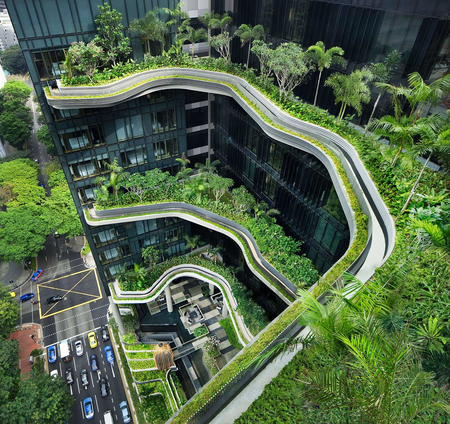 Park Royal on Pickering, Singapore by WOHA | Yellowtrace.