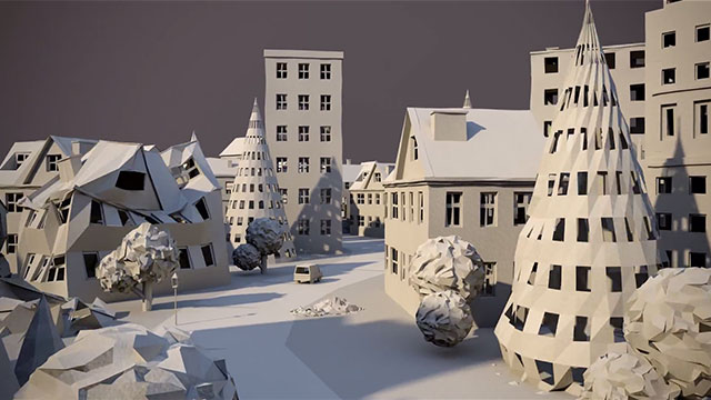 Paper City Animation by Maciek Janicki [TV].