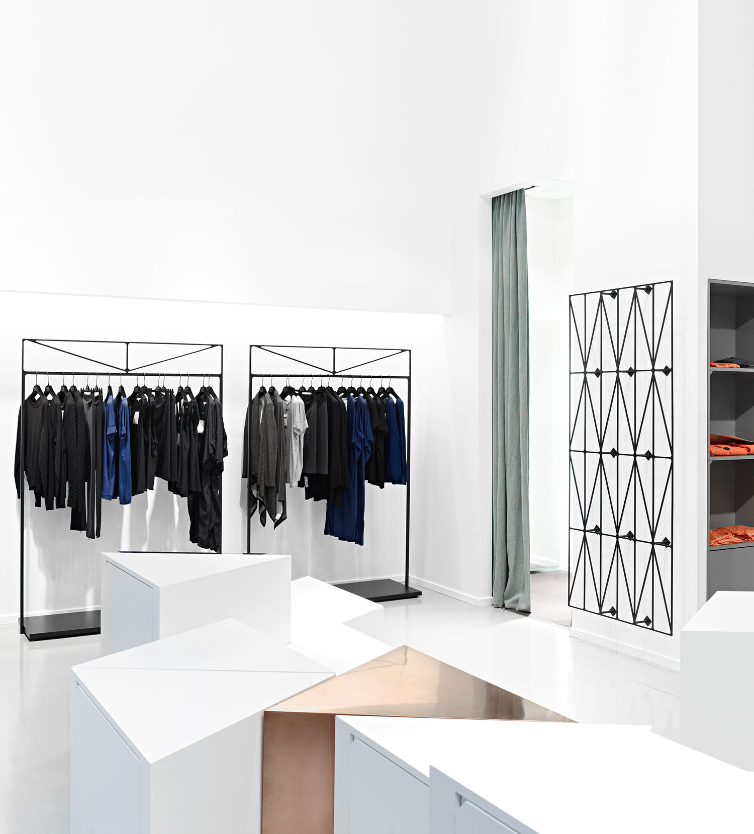 Dagmar by Guise: Stockholm Retail Space Constructed from Triangles.
