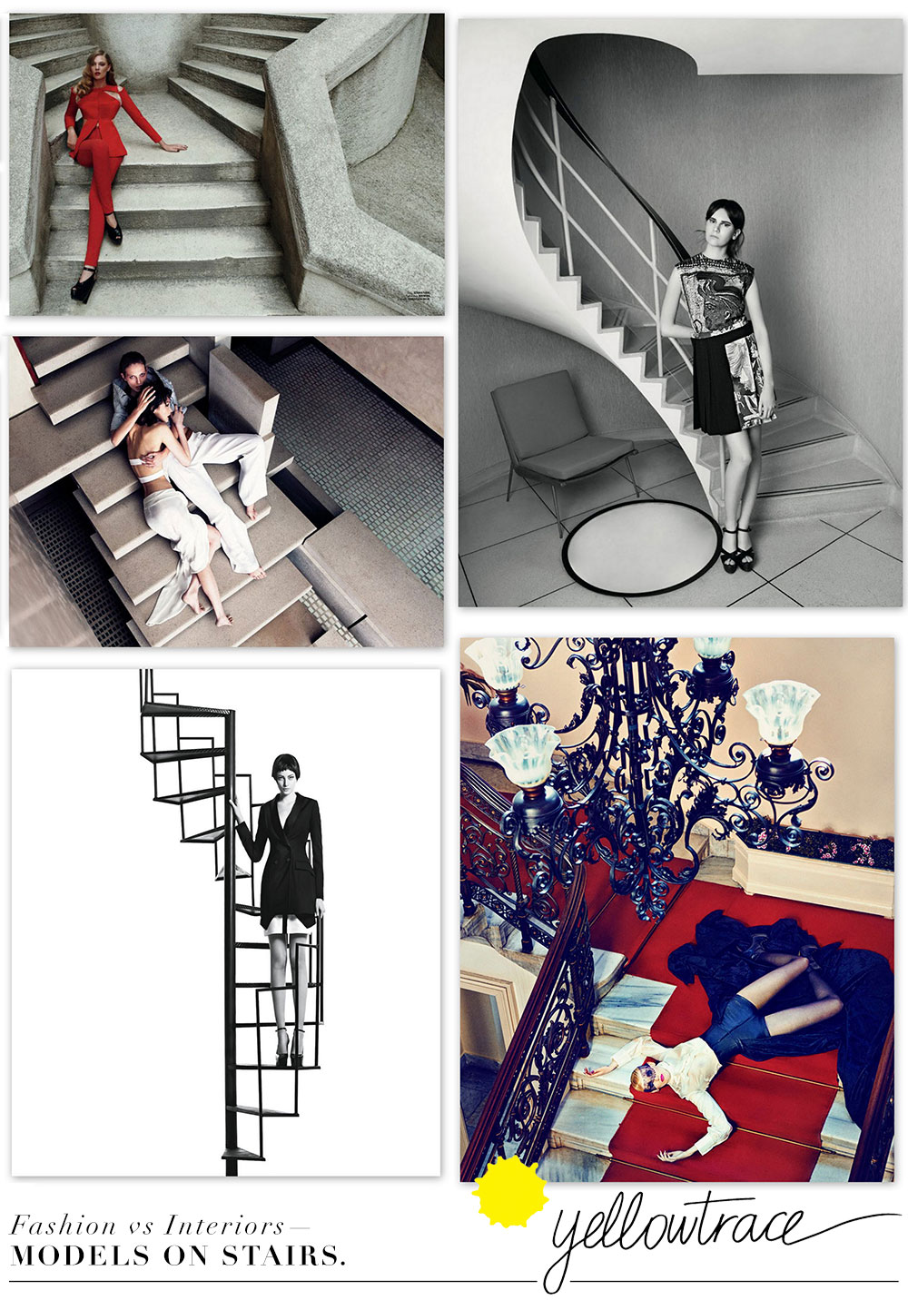 Fashion Photography vs Amazing Interiors—Models on Stairs.