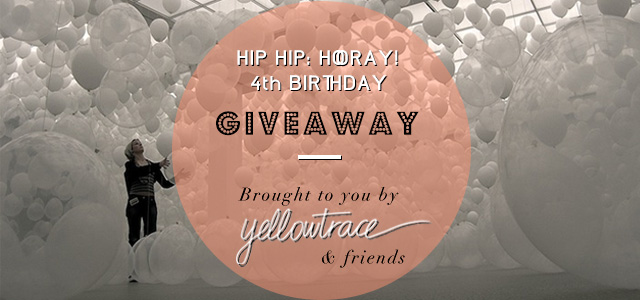 Yellowtrace Giveaway.